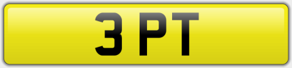 3 PT - Keep Fit Private Number Plate
