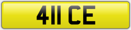 411 CE - ICE PRIVATE NUMBER PLATE