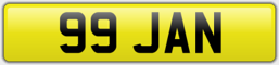 99 jan - private number plate