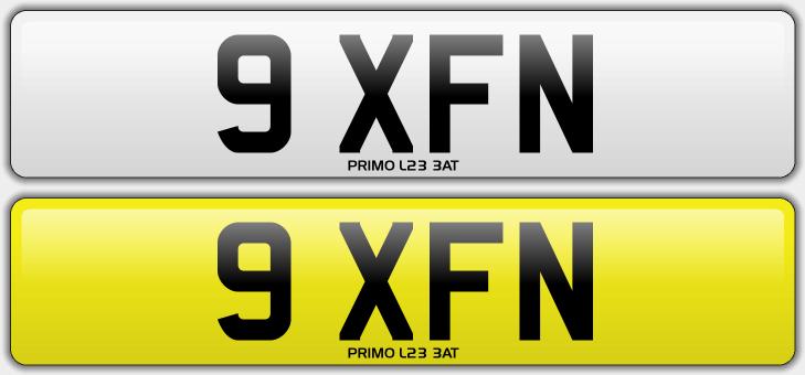 9 xfn cheap 4 digit private number plate