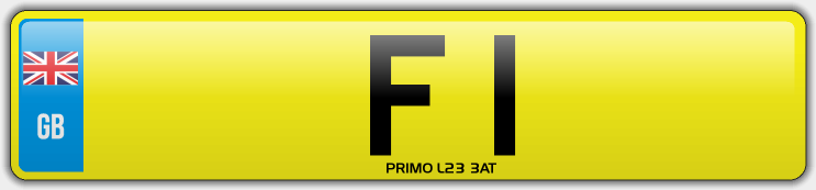 F1 PRIVATE NUMBER PLATE