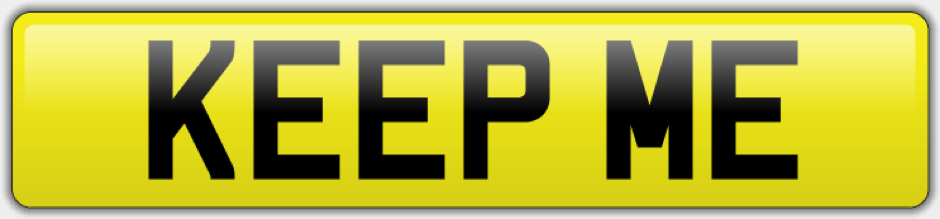 Retain my personal number plate online