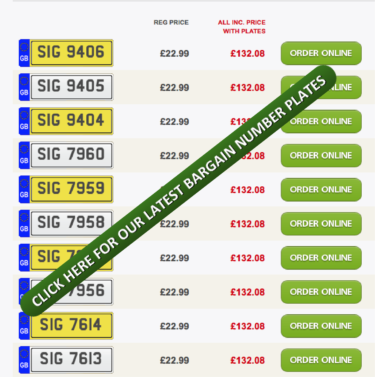 Special Offer - Private Number Plates at just £22 99 plus fees