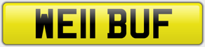 WE11 BUF - Personal number plate