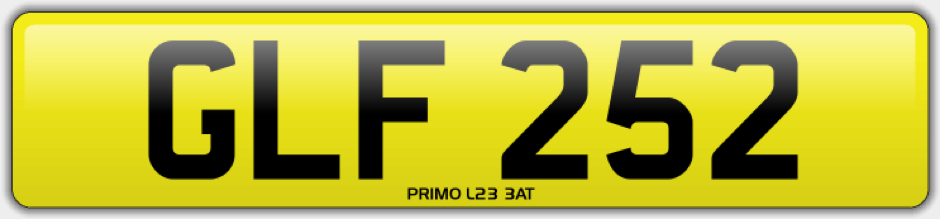 glf 252 private number plate