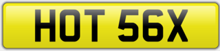 Valentines number plates - HOT 56X