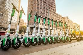 Lime e-scooters.