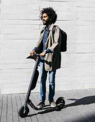 A modern e-scooter