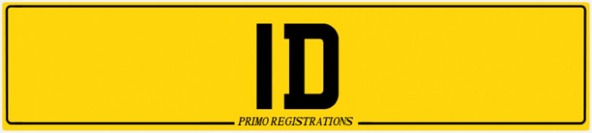 1d number plate