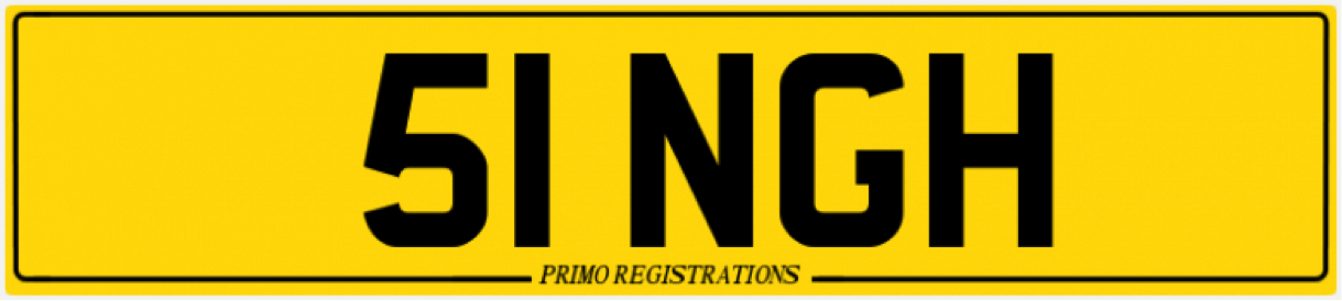 51ngh number plate