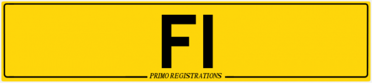 F1 number plate