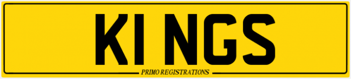 k1ngs number plate