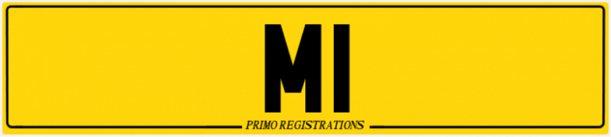 m1 number plate