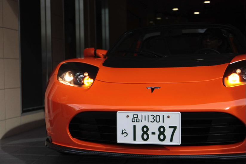 Description: http://upload.wikimedia.org/wikipedia/commons/thumb/f/f4/Tesla_Roadster_with_Japanese_license_plates.jpg/1024px-Tesla_Roadster_with_Japanese_license_plates.jpg