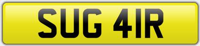 Sugar number plate
