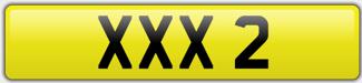 XXX Registration Plate - XXX 2